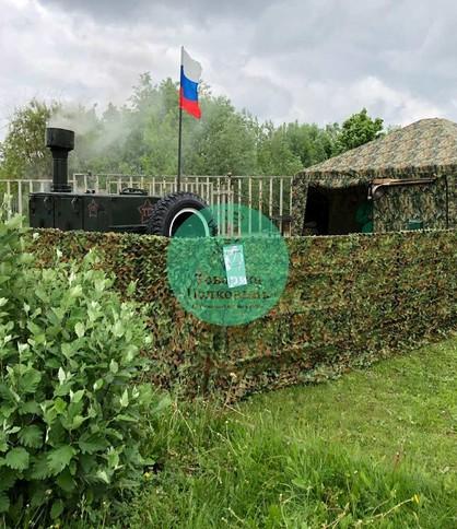 Сеть маскировочная в аренду, декор на 23 февраля в Москве